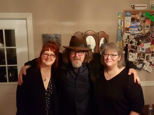 Photo of Linda McRae, Peter Case and Denise Williams of Hillbilly Haiku House Concerts