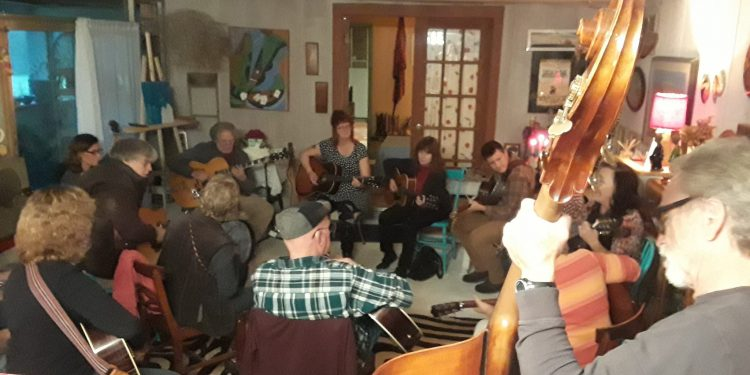 Photo of jam at Linda McRae's house