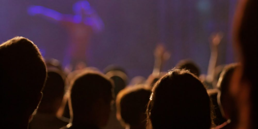 Photo of crowd watching concert