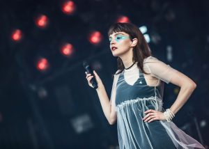 Chvrches lead singer looks out over the audience