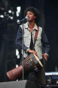 K'naan playing the Djembe - Photo by Greg Koltz