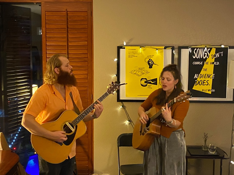 Piper and Carson performing in the Face the Music Room - Photo Credit - Christophe Elie