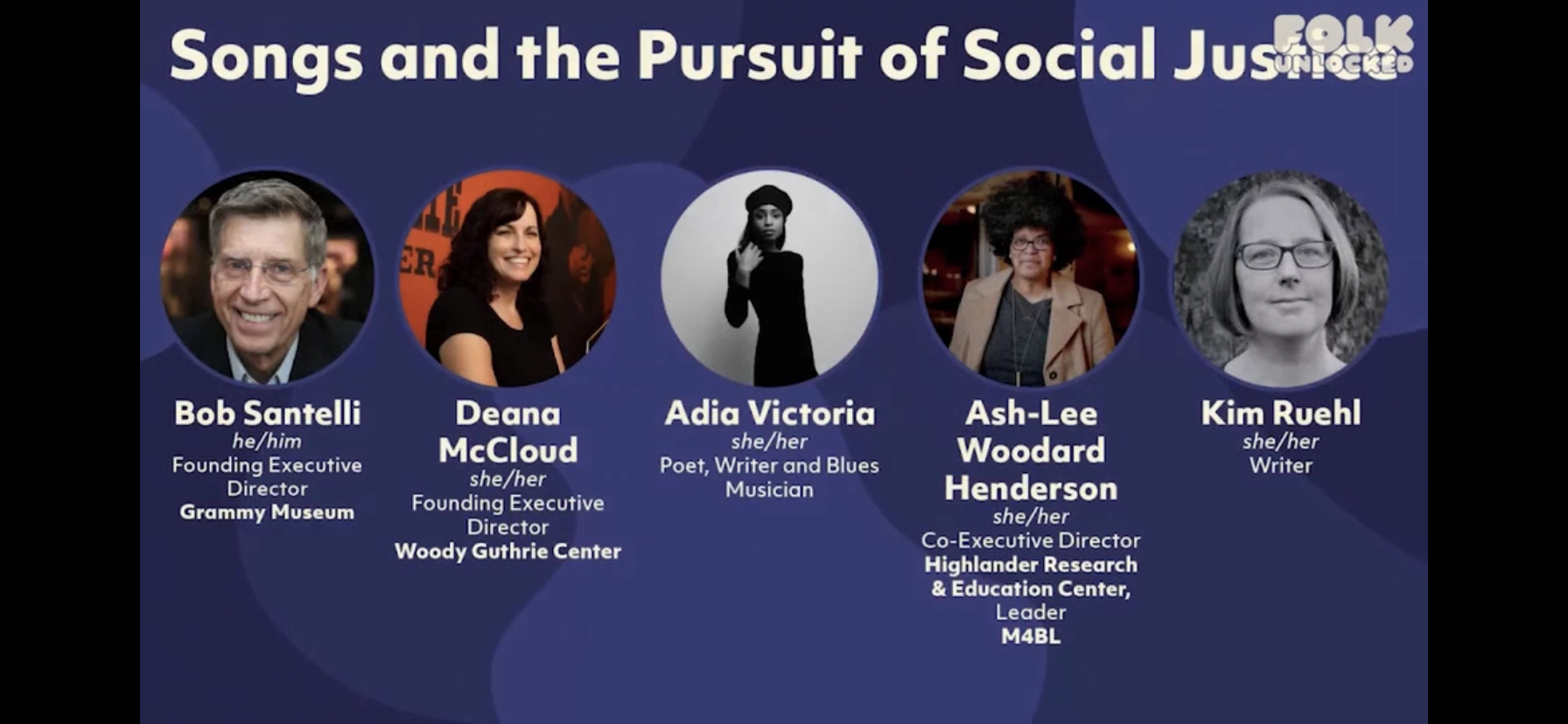 Folk Alliance 2021 - Songs and the Pursuit of Social Justice