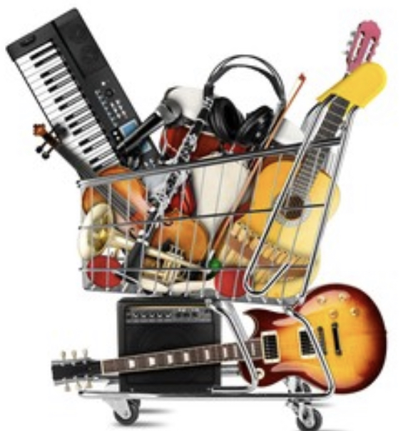 Instruments in a shopping cart