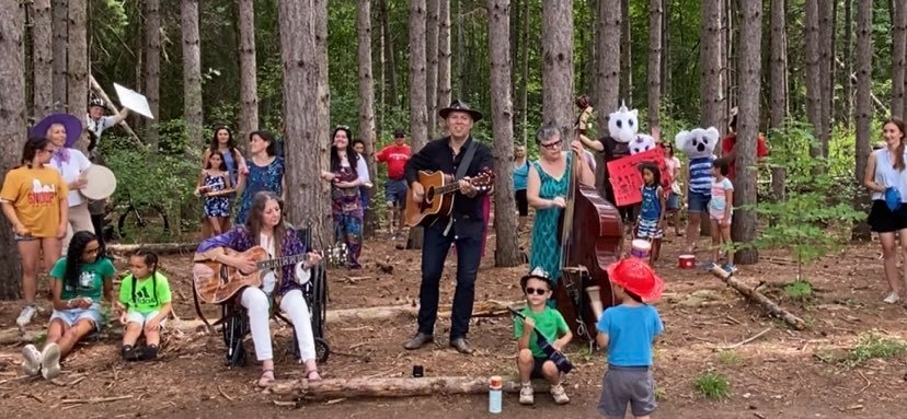 Singing Big Yellow Taxi in the Forest