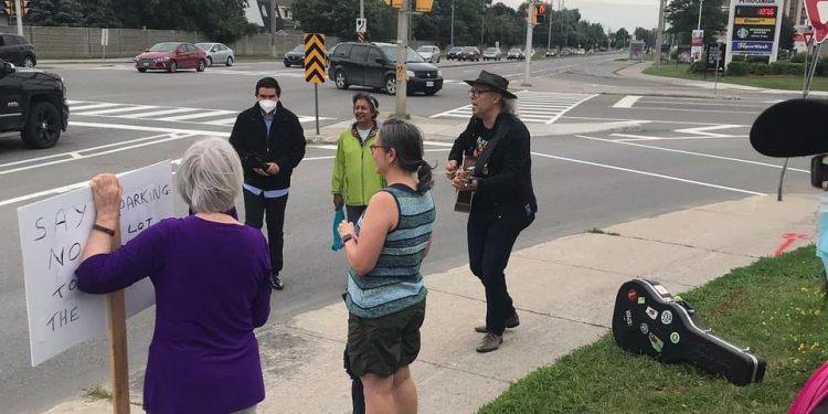 Street Corner Protest